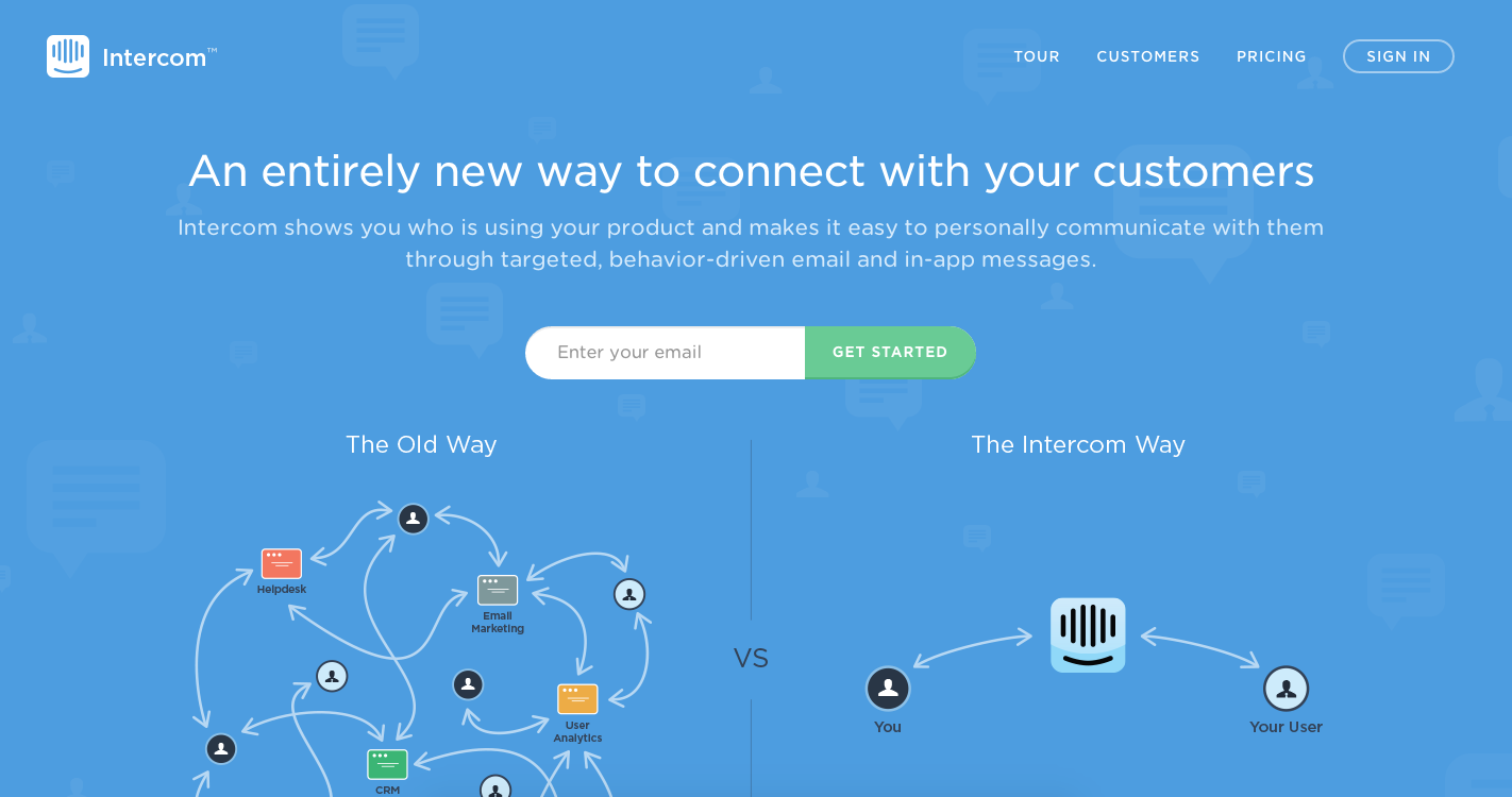 Intercom - Landing Page