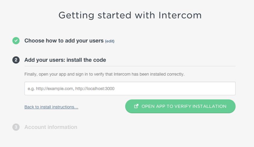 'Back to install instructions…' linki yine oldukça başarılı bir uygulama.